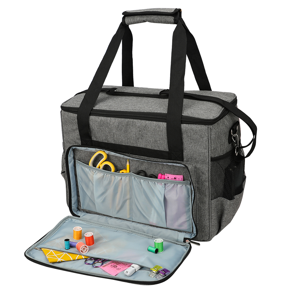 Oxford Cloth Sewing Machine Storage Bag Large Capacity Sewing Tools Handbag Waterproof Durable Sewing Tools Dust Cover Case