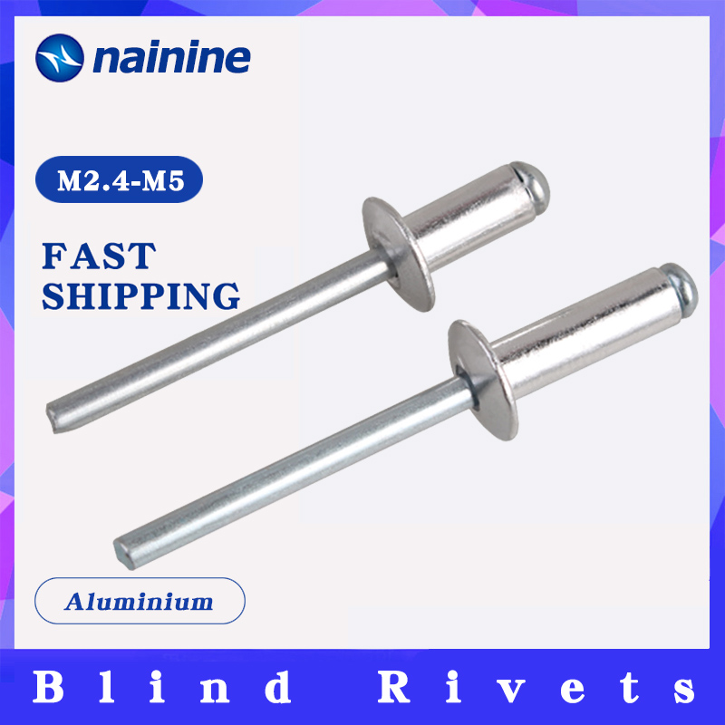 20/50Pcs GB12618 M2.4 M3.2 M4 Blind Rivets Break Mandrel Nail Pop Rivets For Furniture Car Aircraft Aluminium HW021