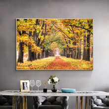 De Hoge Veluwe National Park of Netherlands Landscape Autumn Canvas Painting Poster and Print Wall Art Pictures for Living Room