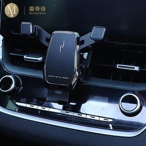 Image 1 - Für Toyota RAV4 Zubehör 2019 2020 RAV 4 Schwerkraft Auto Telefon Halter Gewidmet Air Vent Halterung Clip ständer Handy halter