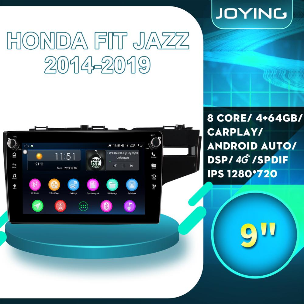 Accessories Android Car Stereo Radio Auto 1 din 9For Honda Fit Jazz 2014 2015 2019 2016 2017 2018 Multimedia Player Right Drive image