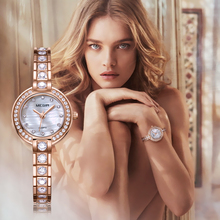 MEGIR Women Bracelet Watches Top Brand Luxury Rose Brass Lover Ladies Watch Clock Waterproof Relogio Feminino Montre Femme