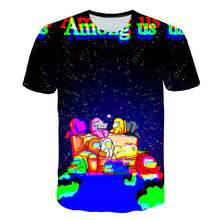 3-16years jogo entre nós meninos 3d t camisa 2021 engraçado verão crianças dos desenhos animados entre nós t-shirts gráficos impostor hip hop crianças t