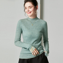 100% Wool Turtleneck Sweaters Lace Runway Sweater Korean Knitted Pullover Winter Tops for Women Designer Luxury Fringe