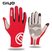 Giyo vento quebrando ciclismo luvas de dedo cheio tela sensível ao toque anti-deslizamento da bicicleta lycra tecido luvas bicicleta de estrada luva longa