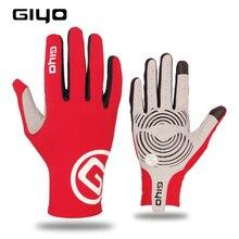 Giyo Wind Brechen Radfahren Voll Finger Handschuhe Touch Screen Anti slip Fahrrad Lycra Stoff Handschuhe Bicicleta Rennrad Lange handschuh