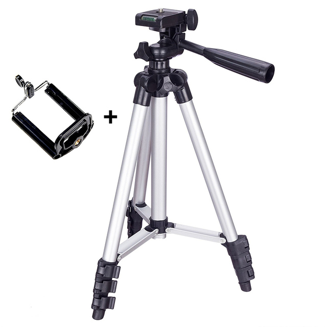 Tripod Mount Stand Set With Phone Holder Clip For Smartphone Telescopes Digital Go Pro Camera UY8