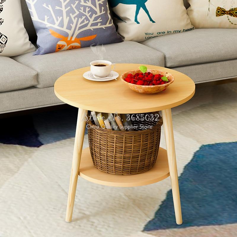 Скандинавский деревянный круглый журнальный столик, стол для грязного хранения чая, фруктов, закусок, Сервировочная тарелка, поднос для кровати, гостиной, дивана| |   | АлиЭкспресс - Ваш красивый дом