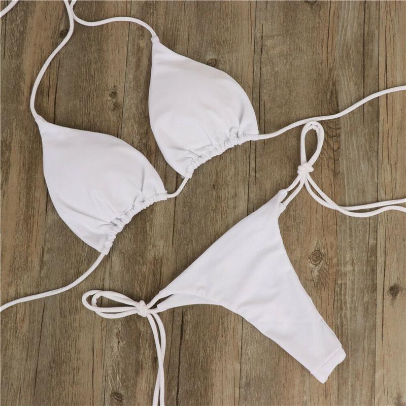 Сексуальный женский бикини бразильский купальный костюм пуш-ап бюстгальтер бикини комплект из двух частей купальный костюм Одежда для куп... 15