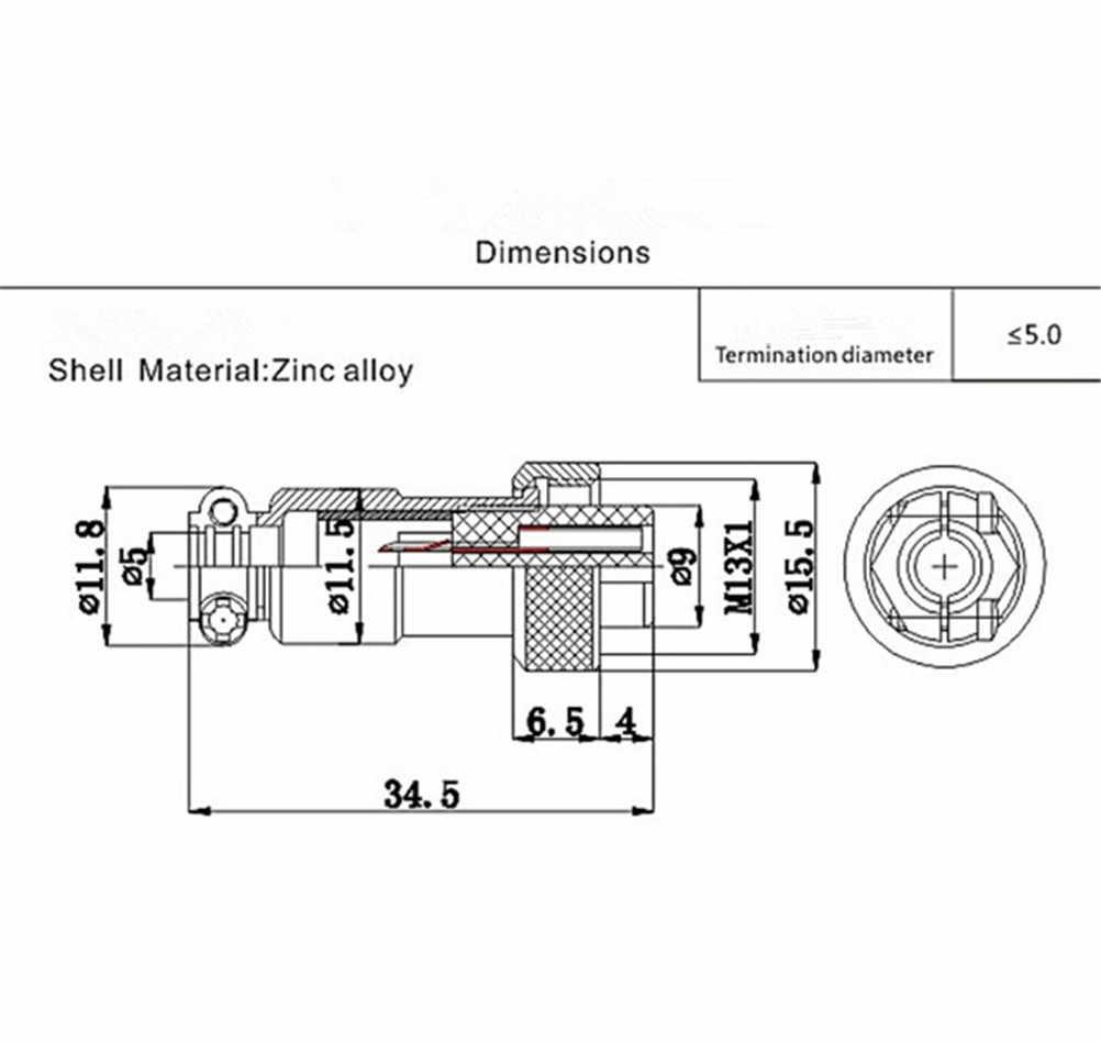 ZLinKJ 1PCS 12mm נירוסטה GX12 2 3 4 5 6 7 פין זכר ונקבת חוט פנל מחבר תעופה תקע עגול שקע תקע