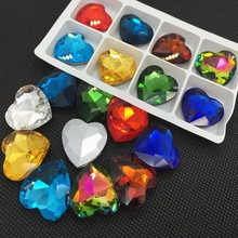 Heart Glass Stone ,Point Back Crystal Rhinestone,Cobalt Siam Peach ..More Colors For Choose