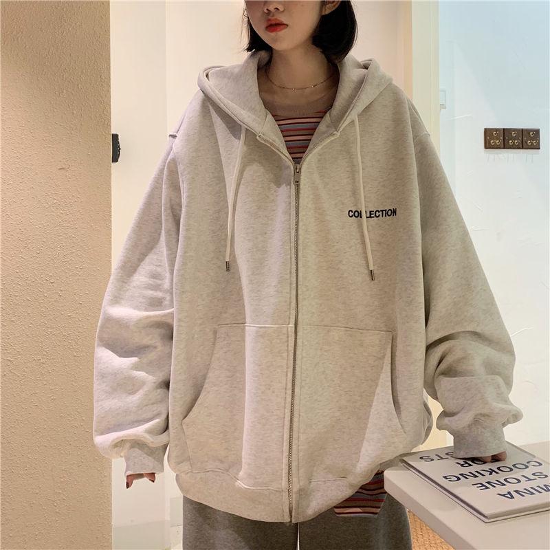 Harajuku Hoodies Women Spring Autumn Loose Casual Sweatshirt New 2020 Korean Style Streetwear Oversized Hooded Outerwear P855