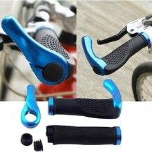 Mountain Bicycle Bike Cycling Lock-On Handlebar Hand Bar End Grips Set universal motorcycle handlebar grips ends 7 8 22mm hand bar end for kawasaki z900 z650 z300