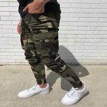 2020 Camo Cargo Pants Men Tracksuit Pockets Jogging Pants Men Slim Sweatpants Fitness Fashion Sportswear Homme Streetwear