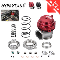 Free Shipping Water cooler 44mm Wastegate external turbo red/black With Flange / Hardware MV R Water cooled
