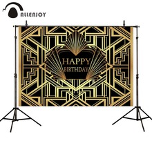 Allenjoy Gatsby photography backdrop happy birthday party photo zone decor background photozone studio photocall photophone allenjoy photophone background photography studio fantasy halloween magic window fire basin fairy tale backdrop palace photocall