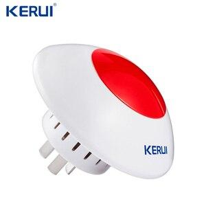 Image 1 - 433 MHz 무선 플래시 사이렌 경보 사이렌 경적 붉은 빛 스트로브 사이렌 홈 경보 시스템 보안 키트