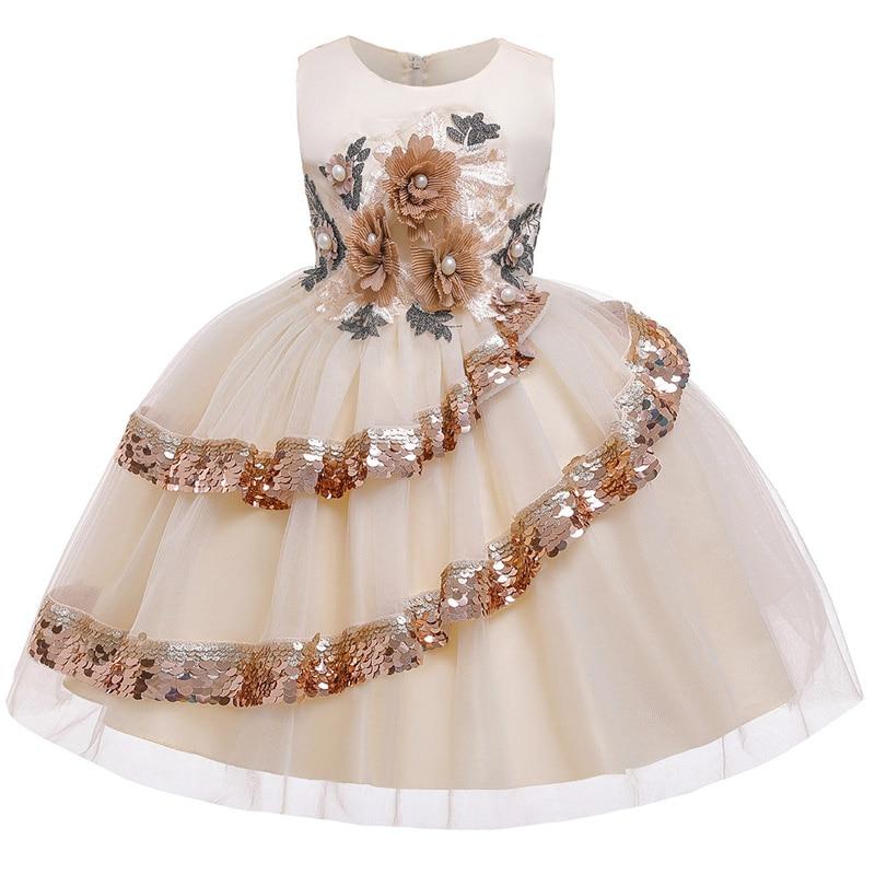 Crianças vestidos para meninas vestido de casamento crianças vestido de festa à noite flor meninas elegante natal princesa vestido infantil