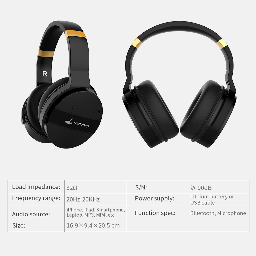 COWIN E8A ANC Noise Cancelling Over ear Headphones Wireless Bluetooth Headset 20 Hrs Music Gaming Computer Travel Headphone - 4