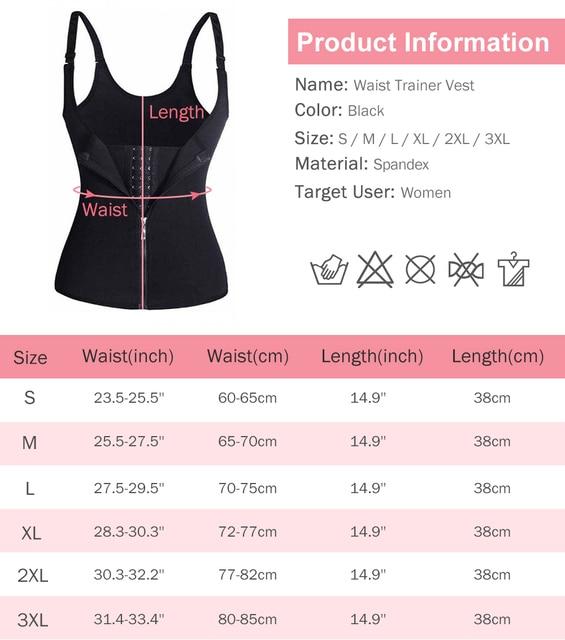 Sauna Sweat Vest Waist Trainer Women Body Slimming Trimmer Corset Workout Push Up Fat Burning Tummy Belly Girdle Bodysuit S-2XL 5