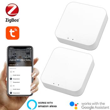 Tuya Zigbee Bridge 3 0 komputer sterujący domem inteligentnym Hub zdalne sterowanie urządzeniami Zigbee za pośrednictwem aplikacji Smart Life współpracuje z Alexa Google Home tanie i dobre opinie CN (pochodzenie)