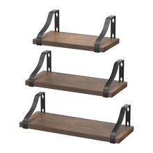 3 Tiers Wall Mounted Shelves Floating Shelves Wall Mounted Storage Shelves For Living Room Bathroom Kitchen Shop Decoration