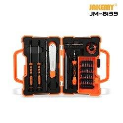 JM-8139 45 w 1 elektroniczny zestaw śrubokrętów precyzyjnych skrzynka na narzędzia ręczne zestaw narzędzi do otwierania do komputera telefonu zestaw narzędzi do naprawy