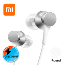 Xiaomi Original  mi piston auricular Fresh 3.5mm In-Ear earphones mic For samsung huawei Earphones with Mic Headset