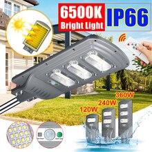 IP66 120 Вт/240 Вт/360 Вт светодиодный наружный светильник, настенный светильник на солнечной батарее, уличный светильник на солнечной батарее, радиолокационный светильник с управлением движения для сада