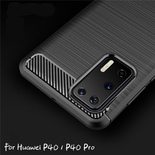 For Huawei P40 Pro Case Carbon Fiber Case For Huawei P40 P40 Pro Silicone Cover Protective Phone Case Bumper For Huawei P40 Pro for cover huawei p40 case huawei p40 coque protective stylish smooth skin pc matte ultra thin phone case for huawei p40 cover