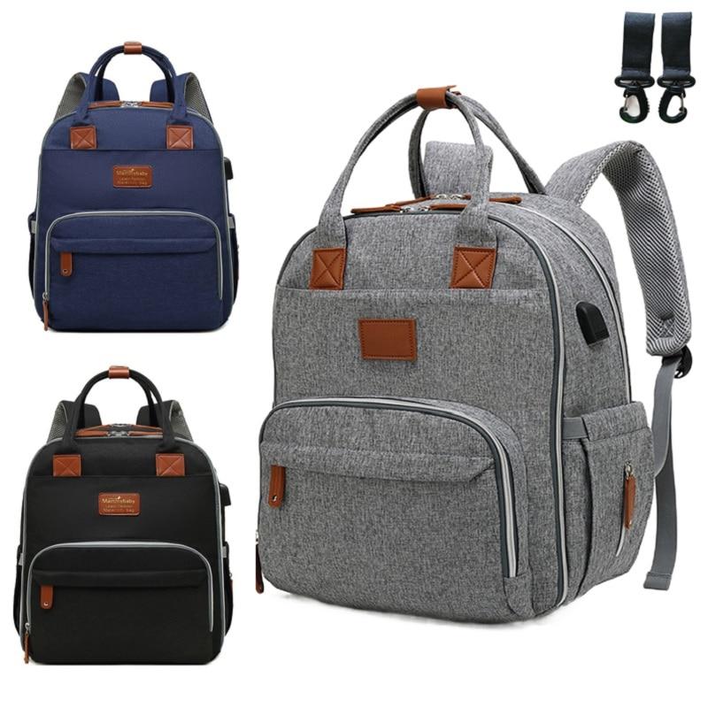 Fashion Diaper Bag  Large Capacity Nappy Bag Shoulder Travel Backpack Nursing Bag for Baby Care Women's Mummy Maternity  Bag