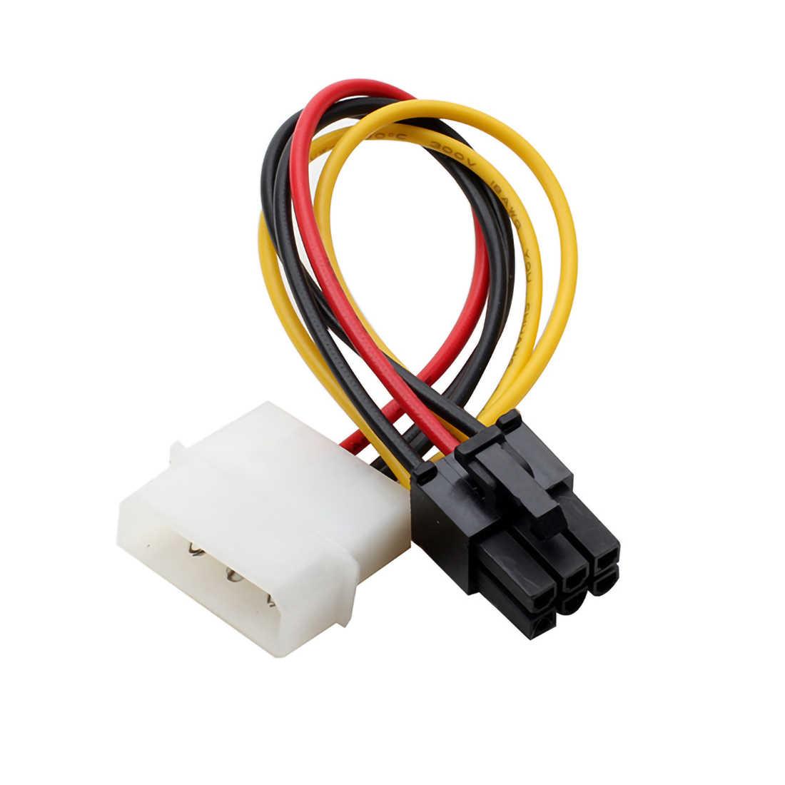 1x18 cm באיכות גבוהה 4 פינים עד 6 פינים PCI-Express PCIE גרפי כרטיס כוח ממיר כבל מתאם כבל