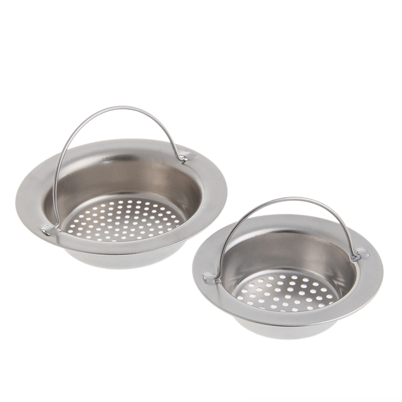 Kitchen Sink Strainer Waste Plug Drain Stopper Filter Basket Stainless Steel New 2017 5
