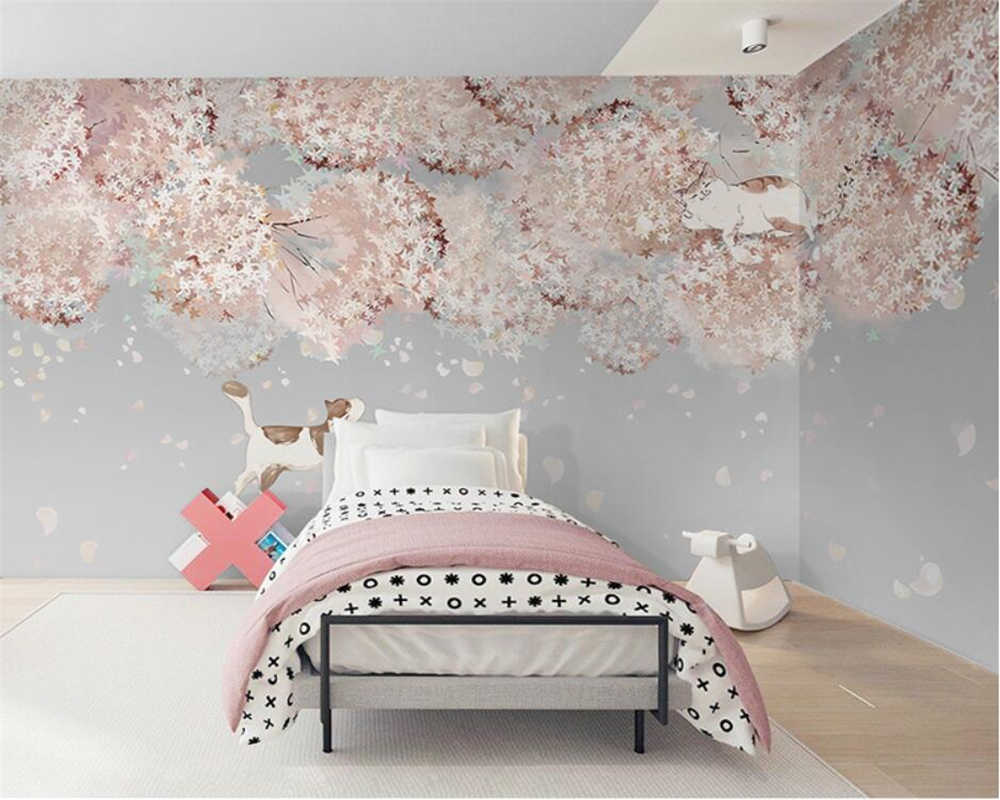 Beibehang Customized Modern Minimalist Nordic Wallpaper Japanese Style Cherry Blossom Bedroom Wall Papers Home Decor Wallpapers Aliexpress
