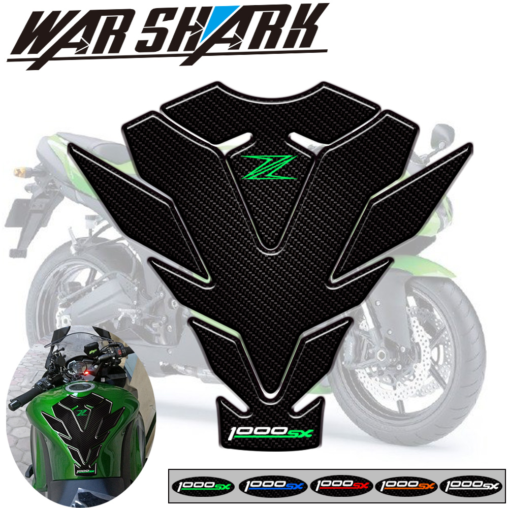 high style Motorcycle 3D Fuel Tank Pad Protective Stickers Decals For <font><b>Kawasaki</b></font> <font><b>Z1000SX</b></font> 2017 <font><b>2018</b></font> Fishbone Protective Decals image