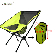 цена на VILEAD Foldable Fishing Chair Portable Moon Chair Durable High Load Bearing Outdoor Camping Chair for Hiking Travel Beach Seat