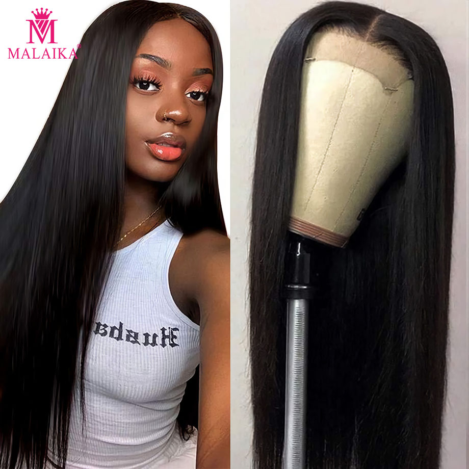10- 26 Inch Straight 13x4 Lace Front Human Hair Wigs Brazilian Wig With Baby Hair MALAIKA Hair Lace Frontal Wig Pre Plucked