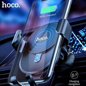 Image 2 - Hoco carregador sem fio para carro 10w, carregador wireless para iphone 11 x xs max, ventilação para suporte de telefone do carro suporte de montagem para samsung xiaomi