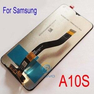 Image 3 - Samsung A10S LCD ekran A107F A107F/DS ile çerçeve ile dokunmatik meclisi yedek onarım parçaları