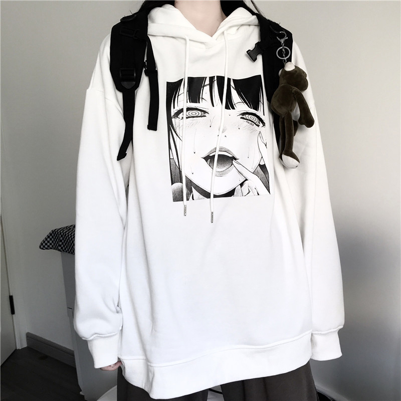 Funny Cartoon Character Print Japan Style Hoodie Autumn Winter Hipster Menwomen Sweatshirt Hip Hop Harajuku Casual Anime Clothes