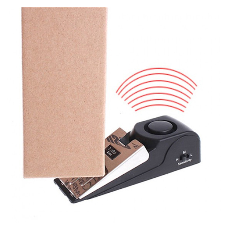 100 DB Household Security Anti-theft Burglar Stop System Security Home Wedge Shaped Door Stop Stopper Alarm Block