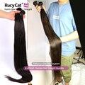 RucyCat 34 36 38 40 дюймов перуанский девственные волосы Weave Связки прямые 100% человеческих волос 1/3/4 связки Natural Цвет волос