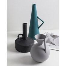 Скандинавская простая керамическая ваза геометрический Моранди