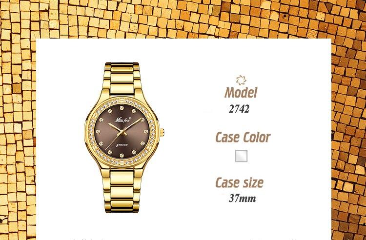 prova dwaterproof água ouro caro analógico genebra quartzo relógio