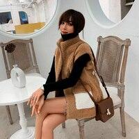 Women Vest Jacket Winter 2019 white Yellow Long Warm Waistcoat Coat For Girls wool coat inapparel for women