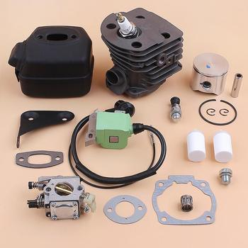 Cylinder Piston Muffler Carburetor Ignition Coil Gasket Filter Kit For HUSQVARNA 51 55 Rancher (45mm) Chainsaw Spare Parts engine motor cylinder piston rings kit for husqvarna 55 51 50 chainsaws 45mm
