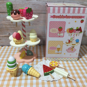 9pcs pretend play simulation food kitchen toys sweet food children cooking toys 3d refrigerator magnets stickers ice cream cake Baby Toys Simulation Magnetic Ice Cream Wooden Toys Pretend Play Kitchen Food Baby Infant Toys Food Birthday Christmas Gift Rat