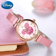 Pretty Girls Minnie Mouse Luxury Bling Crystal Leather Quartz Watches Women Beautiful Bow Little Disney Watch Water resistant майка milliner 1623105