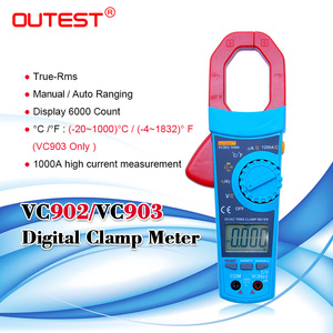 OUTEST True RMS AC/DC digital clamp meter auto range ac dc voltage current resistance capacitance duty cycle 1%~99% 1200A(China)