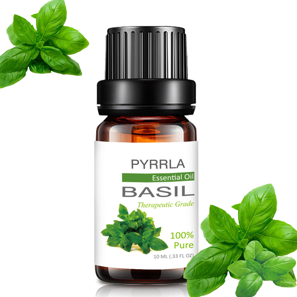 Pyrrla 10ml Basil Pure Essential Oils For Aromatherapy Diffuser Fresh Air Humidifier Massage Relax Care Sandalwood Essential Oil